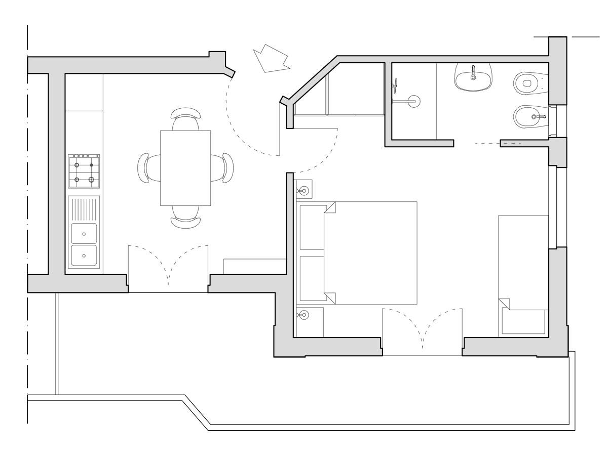 Appartamento c 1g residence corsaro donnalucata for Planimetria appartamento